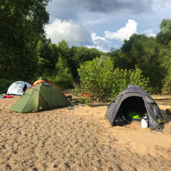 Wildnis und Deinen Fluss des Lebens erleben - Zelten